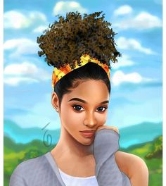 There are some cute hairstyles for black girls that you can use as the model of the creation. The great thing about black girl Black Love Art, Black Girl Art, Black Girls, Art Girl, Natural Hair Art, Natural Hair Styles, Bel Art, Black Girl Cartoon, Black Art Pictures