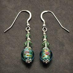 Swarovski Crystal EARRINGS | Handmade Murano bead and Swarovski crystal earrings Swarovski Crystal Earrings, Crystal Jewelry, Gemstone Jewelry, Beaded Earrings, Earrings Handmade, Murano Glass Beads, Jewelry Crafts, Ears, Jewerly