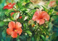 Floral Watercolor Paintings by Malaysian Artist Kuan Ang