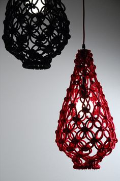 macramé lighting shade - i need to learn this!
