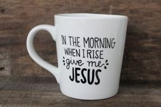 Start the day off with a sweet message and truth! This listing is for one white, high quality ceramic coffee mug with the words, In The