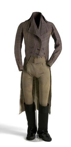 1800 Fashion | 1800s Mens Fashion Men's ensemble, c. 1800.