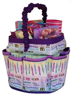 Need a great basket for a shower, birthday party or baby gifts. The Sassy Kat pattern is for a Kitty Scoop bucket and is at www.bucketsgonewild.com.