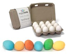 Eggnots - inedible dyeable ceramic eggs #eggfree