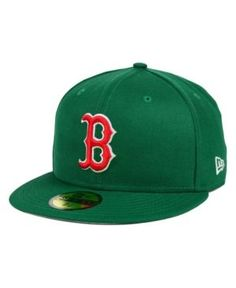 a8a8479bf04 New Era Boston Red Sox Mlb Cooperstown 59FIFTY Cap - Green 7 1 4