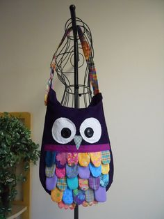 Feathered Owl Bag by SarahsStitchesMI                                                                                                                                                                                 More