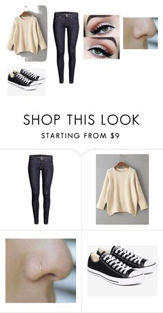 """""""Untitled #11"""" by shortiiiee on Polyvore featuring H&M, WithChic and Converse"""