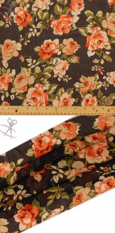 Groups of detailed and classically drawn roses live vibrantly on this Navy Hi Multi Chiffon backdrop. The roses are Off White, Ivory, Tomato Red, & Light Coral. The stems are Water Cress, Olive, Light Green & Black.Hi Multi Chiffon is a lightweight, stylish and free flowing fabric. It is a great material for layered dresses, blouses, scarves, wraps, DIY hairpieces, even chair decorations and much more!