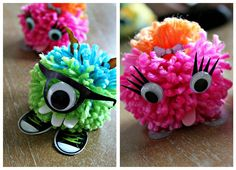 Pom-Pom Monsters (and a give-away) - Create-Celebrate-Explore
