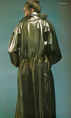 Yves Saint Laurent,  L'Officiel - April 1978,  Photographed by Patrick Bertrand #RaincoatsForWomenShape