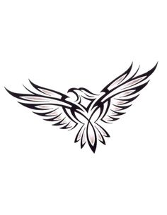 bird outline tattoo eagle wing outline bird with spread wings outline