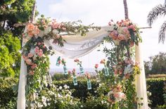 Beautiful Arch with a Beautiful View! Wedding Coordinator, Wedding Venues, Wedding Photos, Wedding Day, San Diego Wedding Photographer, Family Photographer, Ocean View Wedding, Mediterranean Architecture, Wedding Consultant