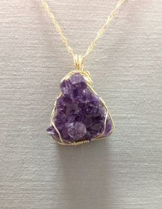Hey, I found this really awesome Etsy listing at https://www.etsy.com/il-en/listing/278684206/natural-amethyst-cluster-pendent-made-of