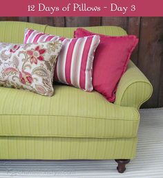 12 Days of Pillows 2013 - Day 3 - Chameleon Style
