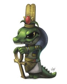 Себек - бог воды и разлива Нила. Он отпугивает силы тьмы и считается защитником богов и людей.