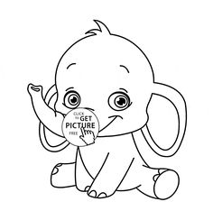 cute baby elephant animal coloring page for kids animal coloring pages printables free wuppsy