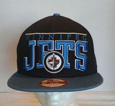 Winnipeg Jets Hockey SnapBack Cap Hat Embroidery Lettering Shipping Only 1  00 702ae0b538b