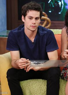 Dylan O'Brien is seen on the set of 'Despierta America' to promote the movie 'Maze Runner: Scorch Trials' at Univision Studios on September 14, 2015 in Miami, Florida.