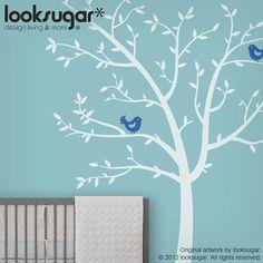 $65 Tree Wall Decals Tree Decals Birds decals - Modern Nursery Vinyl Children Wall Art Sticker Kids wall stickers