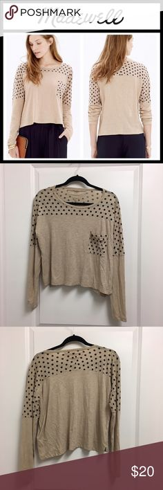 Madewell effortless polka dot tee - NWOT New without tags, tried on but never wore - super soft - size XS Madewell Tops Tees - Long Sleeve