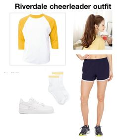 """River Vixen cheerleader outfits"" by whateverxox on Polyvore featuring Brooks, NIKE and Hue"