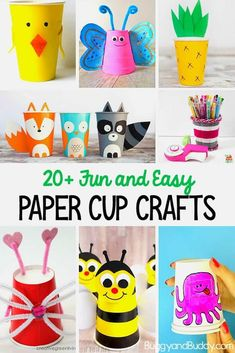 20 Paper Cup Crafts For Kids So Many Cute Ideas