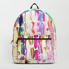 Spring Colorful Sugarcane Backpacks by ANoelleJay | Society6 Fabulous and bright by @anoellejay @society6 back to school solutions