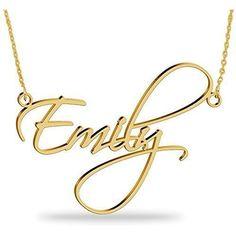 b0d6d00bbe62 Collar con nombre Personalizados Plata de ley chapada en oro 18k Joya para  Mujer Regalo para