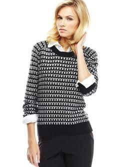 BCBGeneration Knit Pattern Sweater