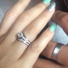 Wedding nails and rings
