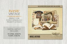 Basic Vintage by Lucky Girl Creative on Creative Market