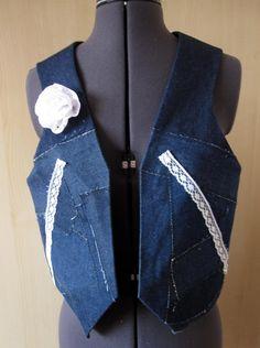 Shabby Chic Waistcoat, Vest, Bolero, Gilet £25.00 Diane's Designs on Folksy.com