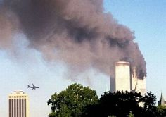 US Airlines Flight 175  Just  Seconds Before Hitting The 2nd Tower  Sept 11 2001.