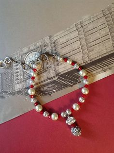 Pet Collar in Red Pearl Necklace for Pets Rhinestone Pet