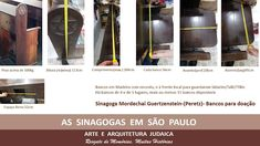 AS SINAGOGAS EM SÃO PAULO - ARTE E ARQUITETURA JUDAICA: Os bancos da Sinagoga Mordechai Guertzenstein
