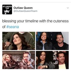Lana and sean is seana cause theres outlawqueen with the characters then theres their own vergin with the actors # Seana #Outlawqueen!!!!