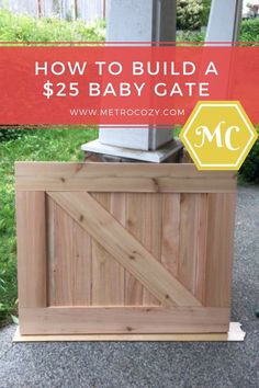 How To Make A $25 Barn Door Baby Gate