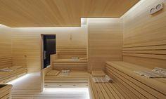 Soft lights in sauna