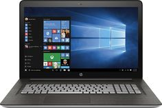 """HP - ENVY 17.3"""" Touch-Screen Laptop - Intel Core i7 - 16GB Memory - 1TB Hard Drive - Silver - Front Zoom"""