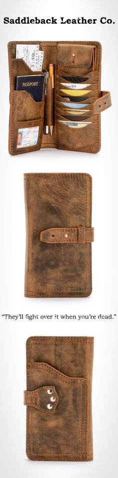 The Saddleback Leather Big Wallet in Tobacco | 100 Year Warranty | $178.00