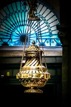 The Botafumeiro is a famous thurible found in the Santiago de Compostela Cathedral in Spain