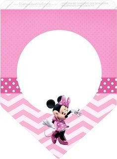 Pretty Minnie in Pink: Free Party Printables. Minnie Mouse 1st Birthday, Minnie Mouse Pink, Minnie Mouse Party, Mouse Parties, Baby Banners, Butterfly Birthday, Bunting Flags, Birthday Crafts, Disney Scrapbook