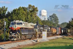 Here's another shot from Tuesday that captured the Central of Georgia heritage unit as she passed through Smiths Station, Alabama.