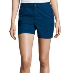 St Johns Bay Womens Cargo Shorts Solid Cotton Spandex size 8 NEW   16.99 free us shipping' https://www.ebay.com/itm/253302363271