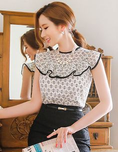Romantic & Trendy Looks, Styleonme Cute Blouses, Blouses For Women, Blouse Styles, Blouse Designs, Classy Outfits, Casual Outfits, Hijab Fashion, Fashion Dresses, Hijab Stile