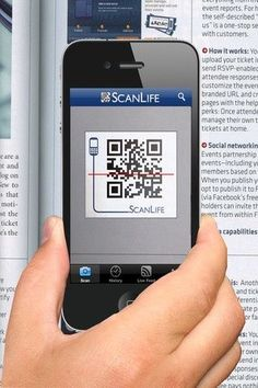 QR Code reading and UPC scanner helps people with limited typing skills look up websites and product info