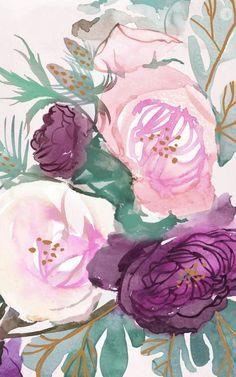 New wallpaper iphone flowers rose Ideas Floral Wallpaper Desktop, Trendy Wallpaper, Flower Wallpaper, Cute Wallpapers, Wallpaper Backgrounds, Desktop Wallpapers, Floral Wallpapers, Wallpaper Quotes, Wallpaper Art