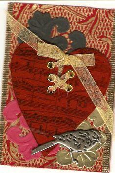 "ATC ""Red""- ""Victorian Velvet"" for Valerie in WA."