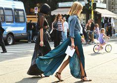streetstyle | maxi skirt #slit