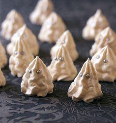 Meringues fantomes pour Halloween - les meilleures recettes de cuisine d'Ôdélices - Casper meringue recipe